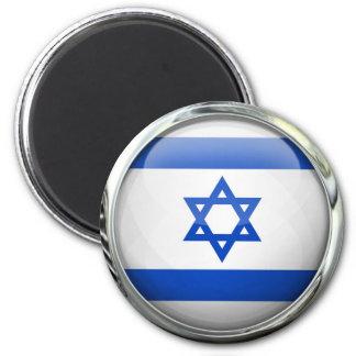 Israel Flag Round Glass Ball 6 Cm Round Magnet
