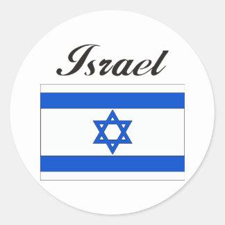 Israel Flag Round Sticker