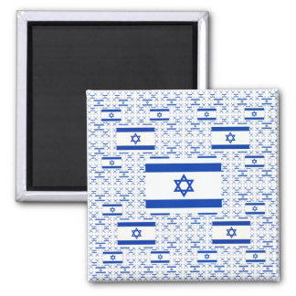 Israel Flag - Star of David -  in Layers Square Magnet