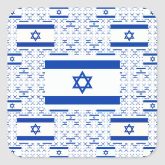 Israel Flag - Star of David -  in Layers Square Sticker