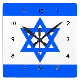 Israel Flag Star of David Wall Clock