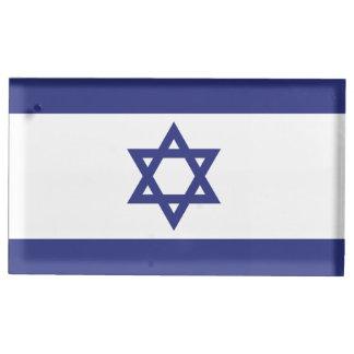Israel Flag Table Card Holder