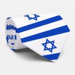 Israel flag tie