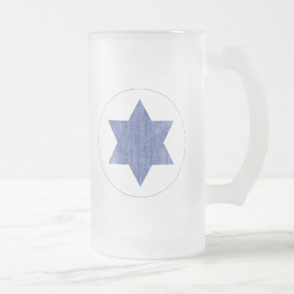 ISRAEL FROSTED GLASS BEER MUG