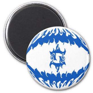 Israel Gnarly Flag 6 Cm Round Magnet