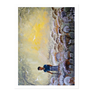 Israel Good Shepherd, paint reproduction. Postcards