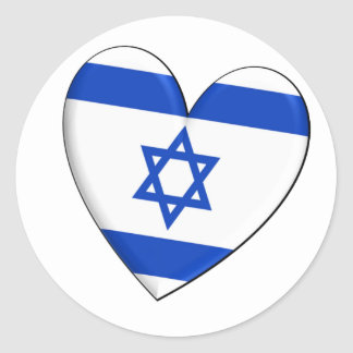 Israel Heart Flag Classic Round Sticker