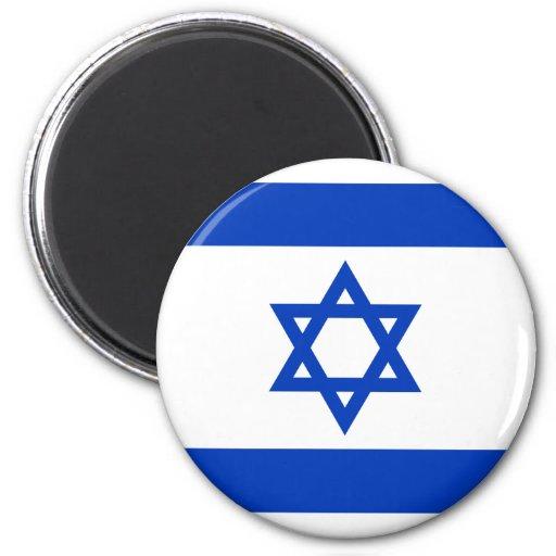 Israel, Israel flag 6 Cm Round Magnet