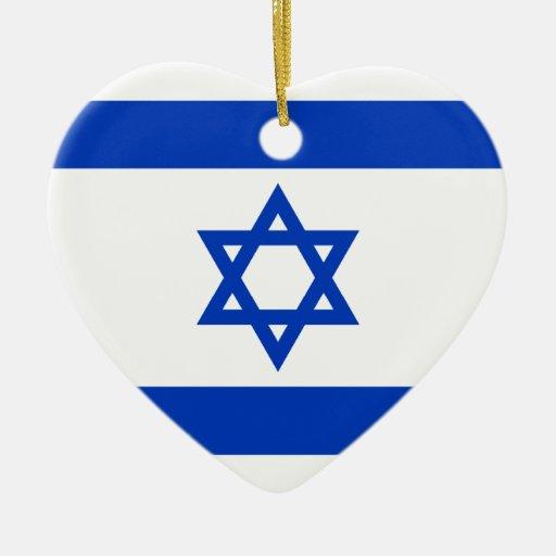 Israel – Israeli Flag Christmas Tree Ornament