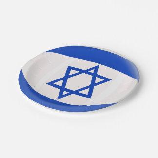 Israel Israeli Flag Paper Plate