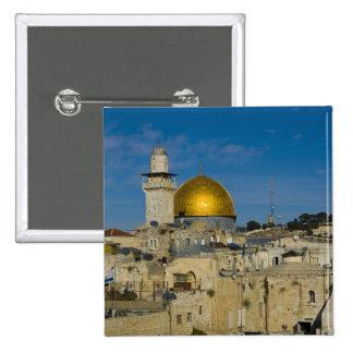 Israel, Jerusalem, Dome of the Rock 15 Cm Square Badge