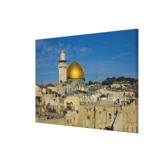 Israel, Jerusalem, Dome of the Rock Stretched Canvas Print