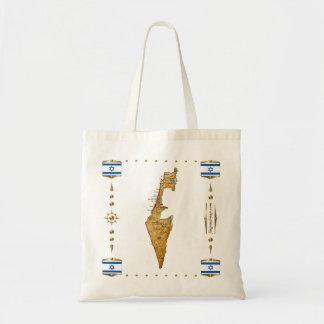 Israel Map + Flags Bag