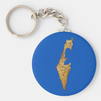 Israel Map Keychain