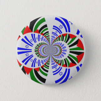 Israel & Palestine 6 Cm Round Badge