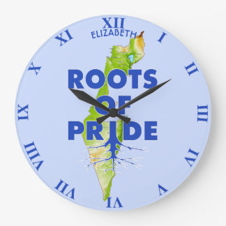 Israel Pride Jewish Roots Of Pride Proud with Large Clock
