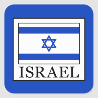 Israel Square Sticker