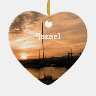 Israel Sunset Christmas Ornament
