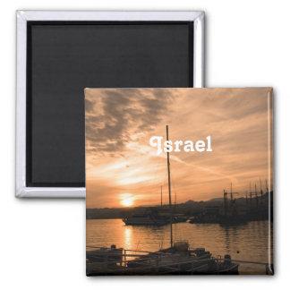 Israel Sunset Square Magnet