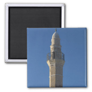 Israel, Tel Aviv, Jaffa, mosque minaret Square Magnet