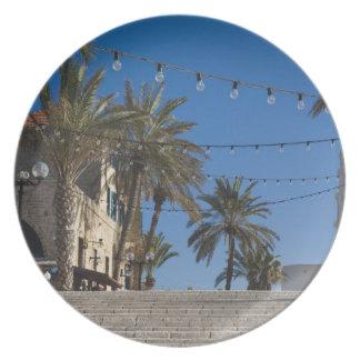 Israel, Tel Aviv, Jaffa, stairs, Old Jaffa Plate