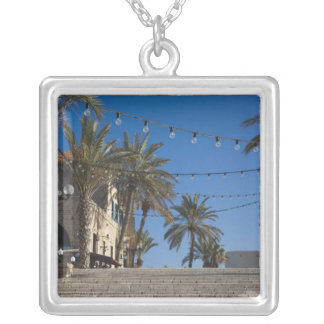 Israel, Tel Aviv, Jaffa, stairs, Old Jaffa Silver Plated Necklace
