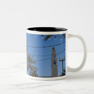 Israel, Tel Aviv, Jaffa, stairs, Old Jaffa Two-Tone Coffee Mug