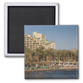 Israel, The Negev, Eilat, Red Sea beachfront 2 Square Magnet