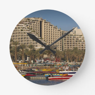 Israel, The Negev, Eilat, Red Sea beachfront 3 Clock