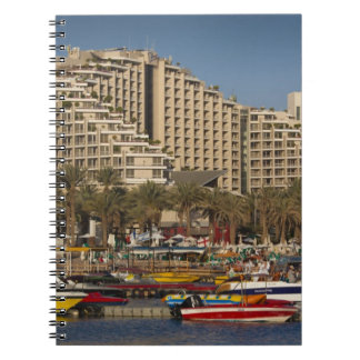 Israel, The Negev, Eilat, Red Sea beachfront 3 Spiral Notebook