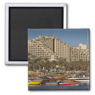 Israel, The Negev, Eilat, Red Sea beachfront 3 Square Magnet