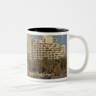 Israel, The Negev, Eilat, Red Sea beachfront 3 Two-Tone Coffee Mug