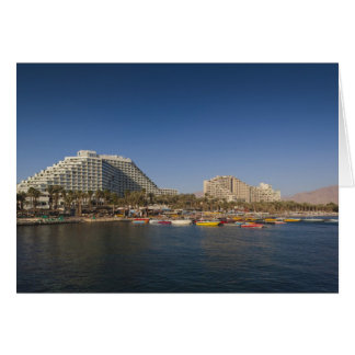 Israel, The Negev, Eilat, Red Sea beachfront Card