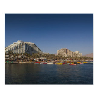 Israel, The Negev, Eilat, Red Sea beachfront Poster