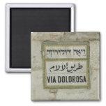 Israel - Via Dolorosa Christian pilgrims Jerusalem Magnets