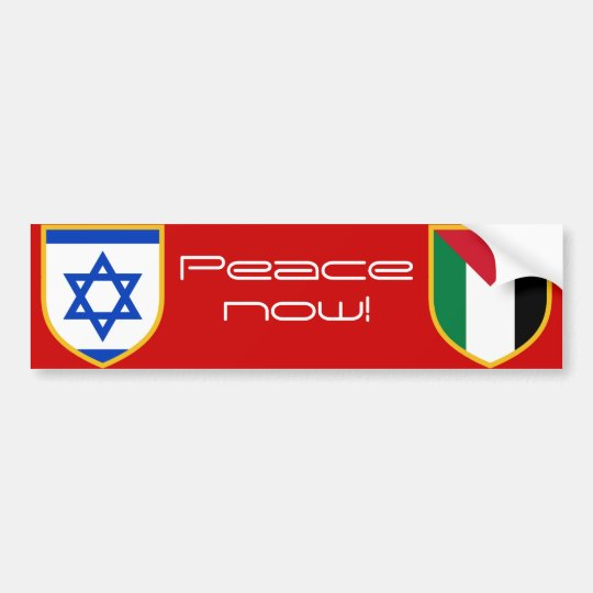 Israel vs Palestine peace now Bumper Sticker