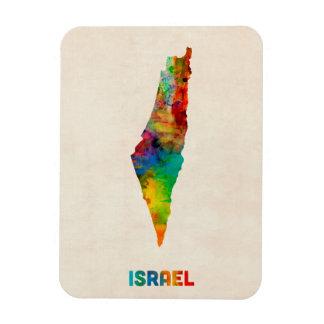 Israel Watercolor Map Rectangular Magnets