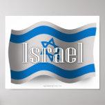 Israel Waving Flag Poster