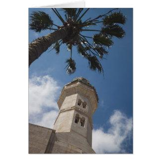 Israel, West Bank, Bethlehem, Mosque of Omar Card