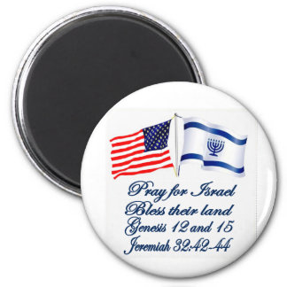 Israeli American flag collection 6 Cm Round Magnet