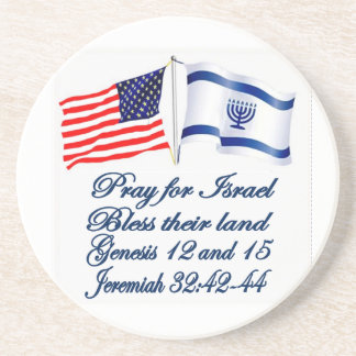 Israeli American flag collection Drink Coasters