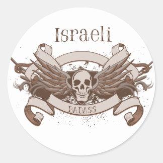 Israeli Badass Round Sticker