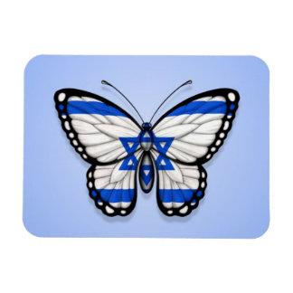 Israeli Butterfly Flag on Blue Magnets