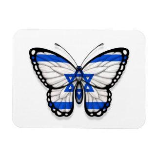Israeli Butterfly Flag Rectangle Magnet