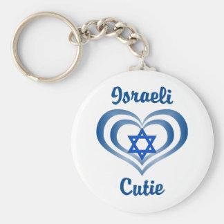 Israeli Cutie Basic Round Button Key Ring