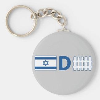 Israeli Defense Basic Round Button Key Ring