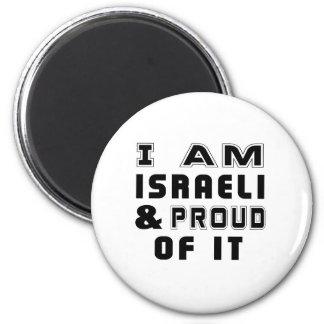 ISRAELI DESIGNS 6 CM ROUND MAGNET