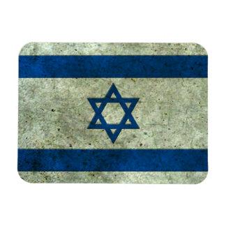 Israeli Flag Aged Steel Effect Flexible Magnet
