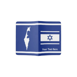 Israeli Flag And Map Passport Holder