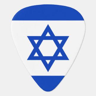 Israeli flag guitar pick